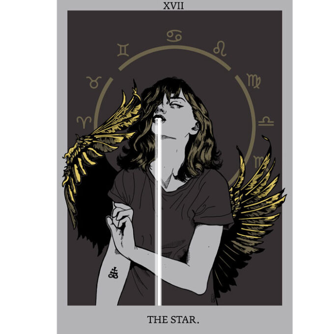 illustration tarot star by moy-a illustration and graphic design