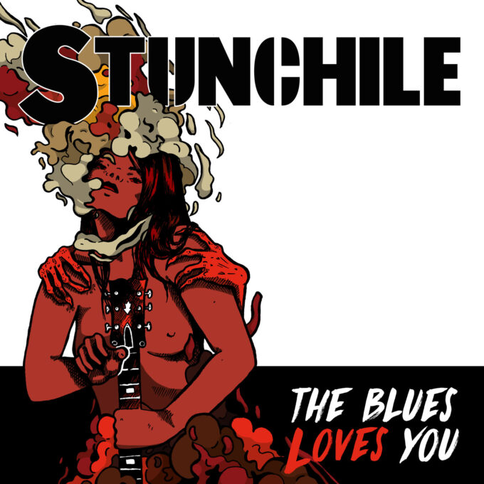 stunchile band artwork by moy-a illustration and graphic design